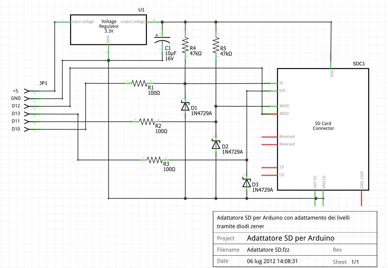 Circuito Arduino : Adattatore sd microsd sdhc per arduino parte « arduino