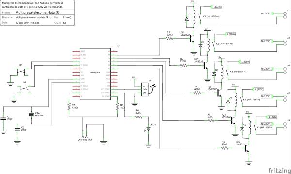 Multipresa telecomandata IR v1.1_schema